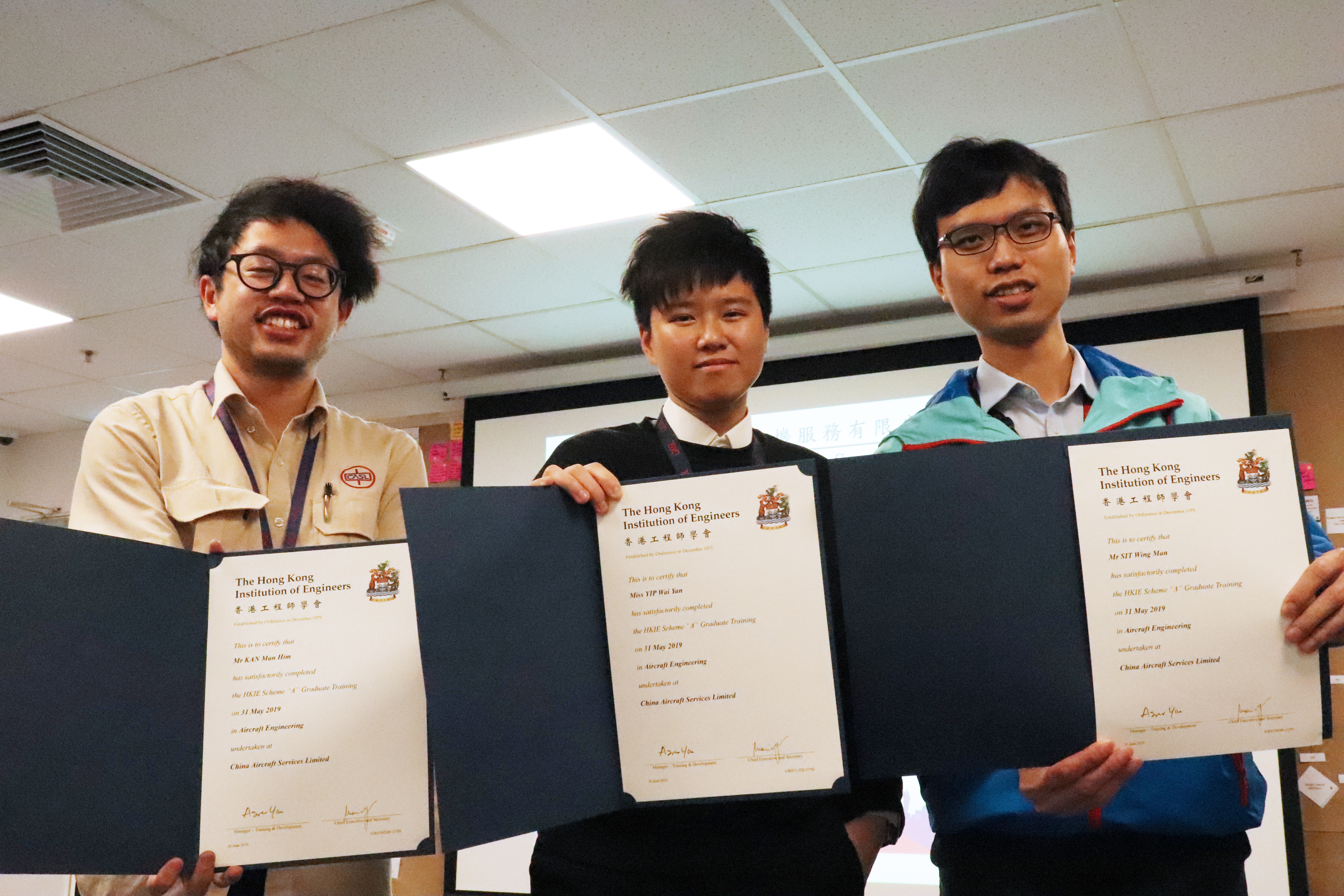 Our Team C CASL Engineering Trainees Graduated!